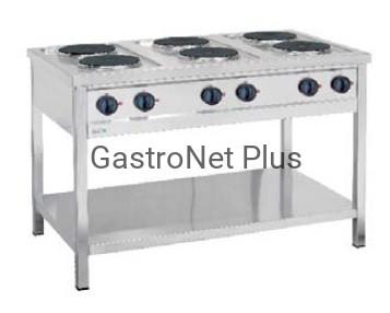 Kuchnia Elektryczna Wolnostojąca 6 Palnikowa Moc 156 Kw